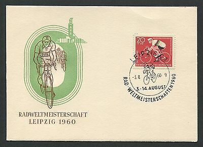 DDR MK 1960 RAD WM LEIPZIG CYCLING MAXIMUMKARTE CARTE MAXIMUM CARD MC CM d5096