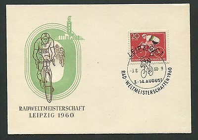 DDR MK 1960 RAD WM LEIPZIG CYCLING MAXIMUMKARTE CARTE MAXIMUM CARD MC CM d5095