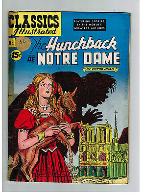 CLASSICS ILLUSTRATED COMIC No. 18 Hunchback of Notre Dame HRN 118 US