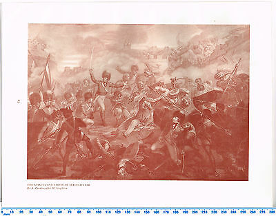 The Assault And Taking Of Seringapatam Antique Military Picture Print