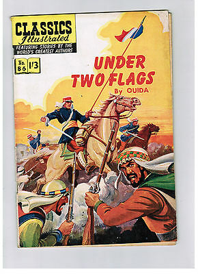 CLASSICS ILLUSTRATED COMIC No. 86 Under Two Flags HRN 129