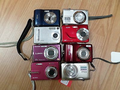 Lot of 8 Digital Cameras for Parts