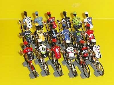 Figurine Cycliste - Cyclist Figure - World Tour 2017 Complet - 18 Equipes