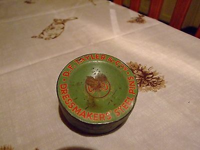 Collectable Dressmakers Steel Pin Tin
