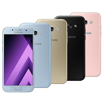 Samsung Galaxy A5 2017 SM-A520F (FACTORY UNLOCKED) Gold White Black Peach Blue