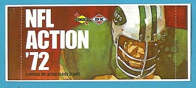 1972 Sunoco Football Stamps Pack Jets Design (9 NFL Action Player Stamps)