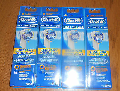 Braun Oral-B Pescision clean Electric Toothbrush Heads - 4 X 4 Pack (16)