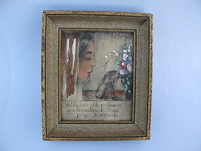 Paul Hagemans Etching And Watercolour Portrait Of A Lady Early 20Th Century