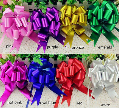"50M x 150MM / 2 x 6"" Large Poly Pull Ribbon Pull Bows Wedding Party Gift wrap B2"