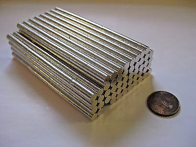 5mm x 1mm Neodymium Disc Magnets N50, New, Super Strong! -100 or 200 pcs-