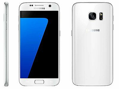 New Samsung Galaxy S7 SM-G930A 32GB AT&T GSM Unlocked White Pearl Smartphone