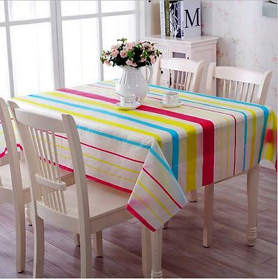 Wipe Clean PVC Vinyl Tablecloth Dining Kitchen Table Protector 137x182cm    5#