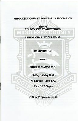 Hampton v Ruislip Manor - Middlesex Charity Cup Final - 1995/96