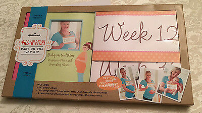 Hallmark Pics N Props Baby on the Way Photo Kit w/ Album Pregnancy tracker NEW