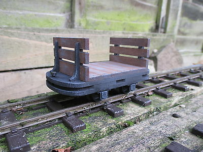 Sm32/16mm scale, Flat Wagon Kit With Slatted Ends, narrow gauge, 32mm,,,,