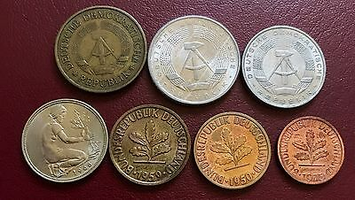 1950+ Lot Of 7 Old World Coin. Nice Selection Of Different Coins. Lot# M4