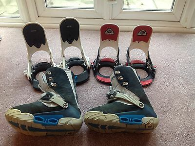 Burton Ruler Step In Snowboard Boots UK size 9, With 2 Sets Of Step In Bindings