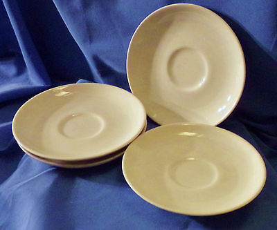 Russel Wright Iroquois China 4 pieces Saucer White