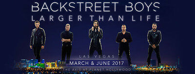 Backstreet Boys 'Larger Than Life' in Las Vegas - Wed March 8, 2017