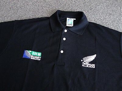 All Blacks New Zealand Rugby Union Polo Jersey - Sizes M, XL, 2XL Fast Shipping