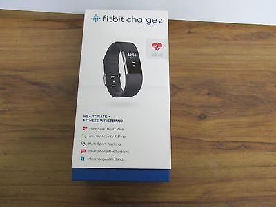 NEW Fitbit Charge 2 Heart Rate & Activity Tracker - Black