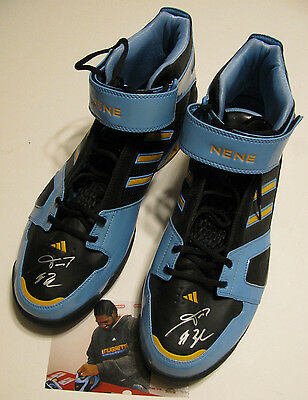 NENE Denver Nuggets Signed / Autographed PE Adidas Game Size 18 Shoes