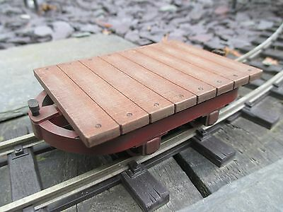 Sm32/16mm scale, Bolster Chassis Flat Wagon, narrow gauge, Complete Kit, 32mm,,,