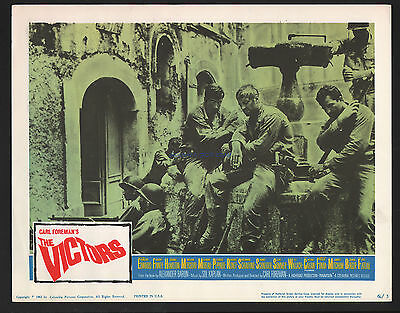 The Victors Two Original 1963 U.s Lobby Cards George Peppard Albert Finney