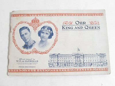 "Vintage Cigarette Card Collection Complete ""our King And Queen Will's"