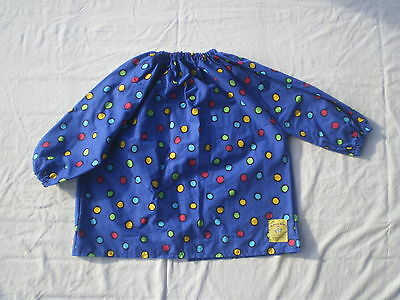 Personalised Blue Spotty Kids Painting or Art Smock