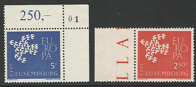 Luxembourg 1961 Europa 2 Mnh Stamps 3Pb984
