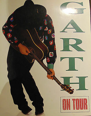 "1992 GARTH BROOKS ""ON TOUR"" Concert Program large 15 1/2"" x 12"""