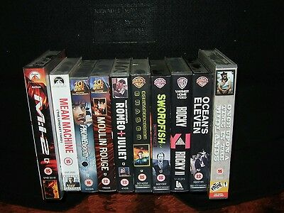 video films. VHS Tapes x 10 Various.