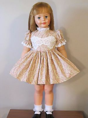 """Beautiful Pink Paisley Floral Dress For 35"""" Patti Playpal Doll Clothes"""