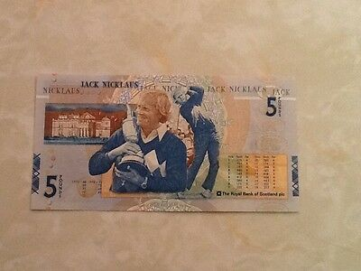 Genuine Jack Nicklaus £5 (Five Pounds) Brand New, MINT Condition, Uncirculated