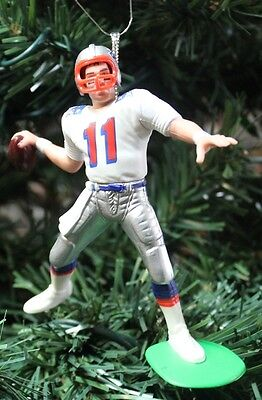 Drew Bledsoe New England Patriots Long Bomb White Jersey Christmas Tree Ornament
