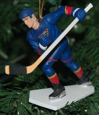 Brett Hull St. Louis Blues Blue Jersey Hockey Christmas Tree Ornament HOF