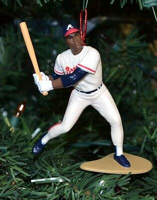 Terry Pendleton Atlanta Braves White Uniform Batting Christmas Tree Ornament MLB