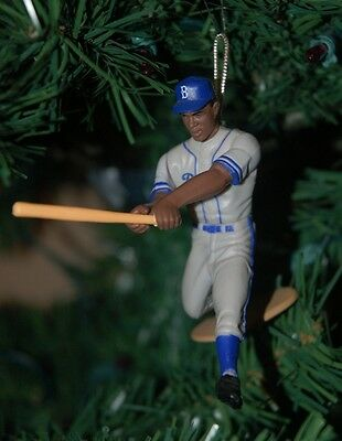 Jackie Robinson Brooklyn Dodgers Grey Uniform Christmas Tree Ornament HOF