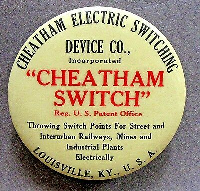 CHEATHAM ELECTRIC SWITCHING DEVICE CO. Railways paperweight pocket mirror *