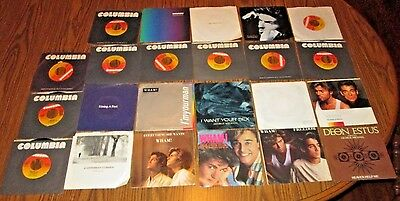 LOT OF 23 GEORGE MICHAEL/ WHAM VINYL NM 45 RECORDS INCLUDES 13 w/PICTURE SLEEVES