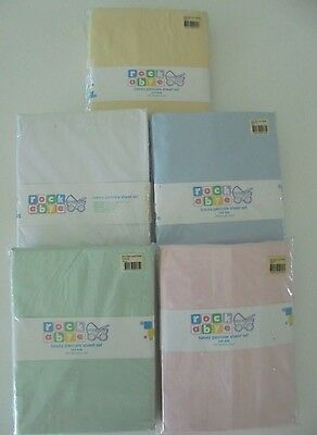 Brand New In Packet Rockabye Fitted Cot Sheet Set Luxury Percale 225Tc Rrp$38.99