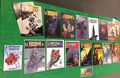 Lot of 17 Mixed Hellboy Issues Dark Horse Comics  17 TOTAL - Bagged and Boarded