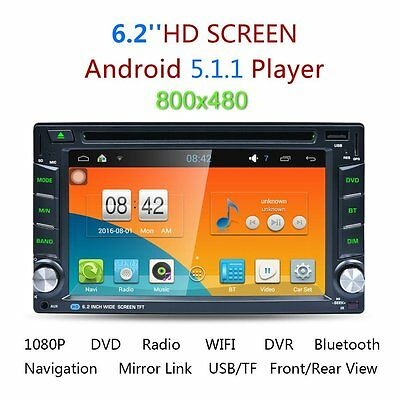 "Android 5.1 6.2"" Double 2DIN Car GPS DVD Player Bluetooth Stereo Sat Nav RDS"