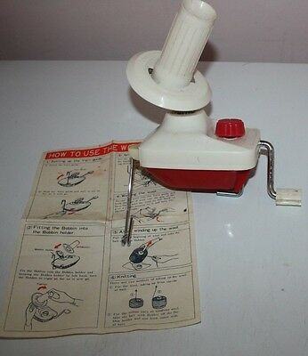 Vintage Empisal Knitmaster Wool Winder with instructions