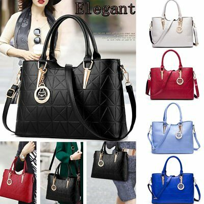 Women's Leather Handbag Shoulder Hobo Crossbody Bag Tote Messenger Satchel Purse