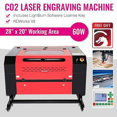 Laser Engraving Machine Engraver Cutter  60W  CO2 / w/ USB Interface New