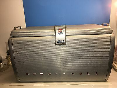 Vintage Aluminum Pepsi-Cola Cooler 1950's with opener and drain