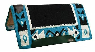 "Showman TURQUOISE 36"" x 34"" Saddle Pad W/ Woven Top & Memory Felt Bottom! TACK!"
