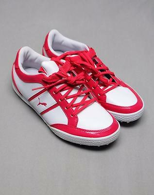 New Womens Size 7.0 Puma Monolite Cat Spikeless golf shoes Raspberry